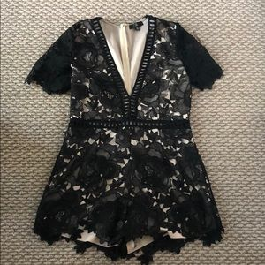 Top Shop Romper, Black Lace, Worn once